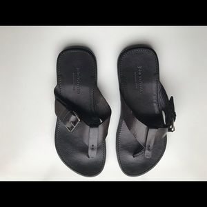 John varvatos leather sandal